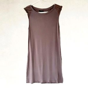 NWT Dynamite Sleeveless Max Tunic faux suede dtls